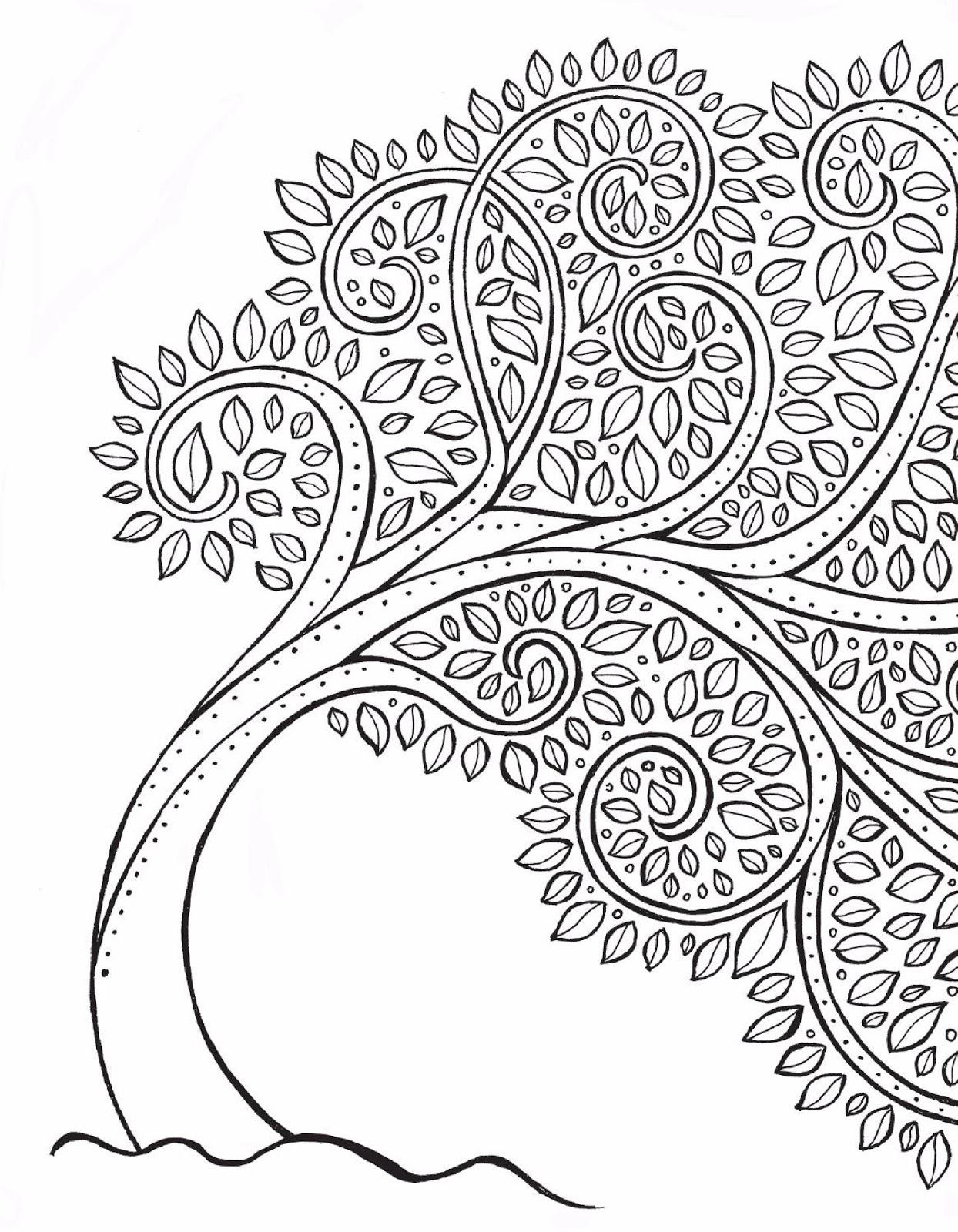 Desenhos Para Colorir E Imprimir Arvores Para Colorir Coloring Tree
