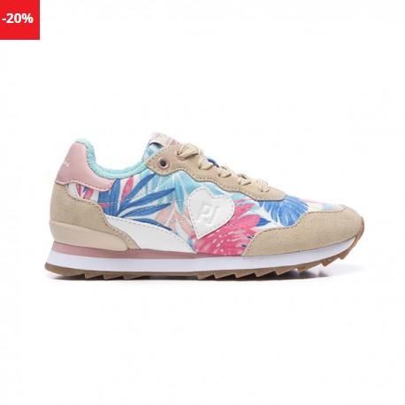 Pantofi sport femei cu print colorat Pepe Jeans BELLE FLOWERS