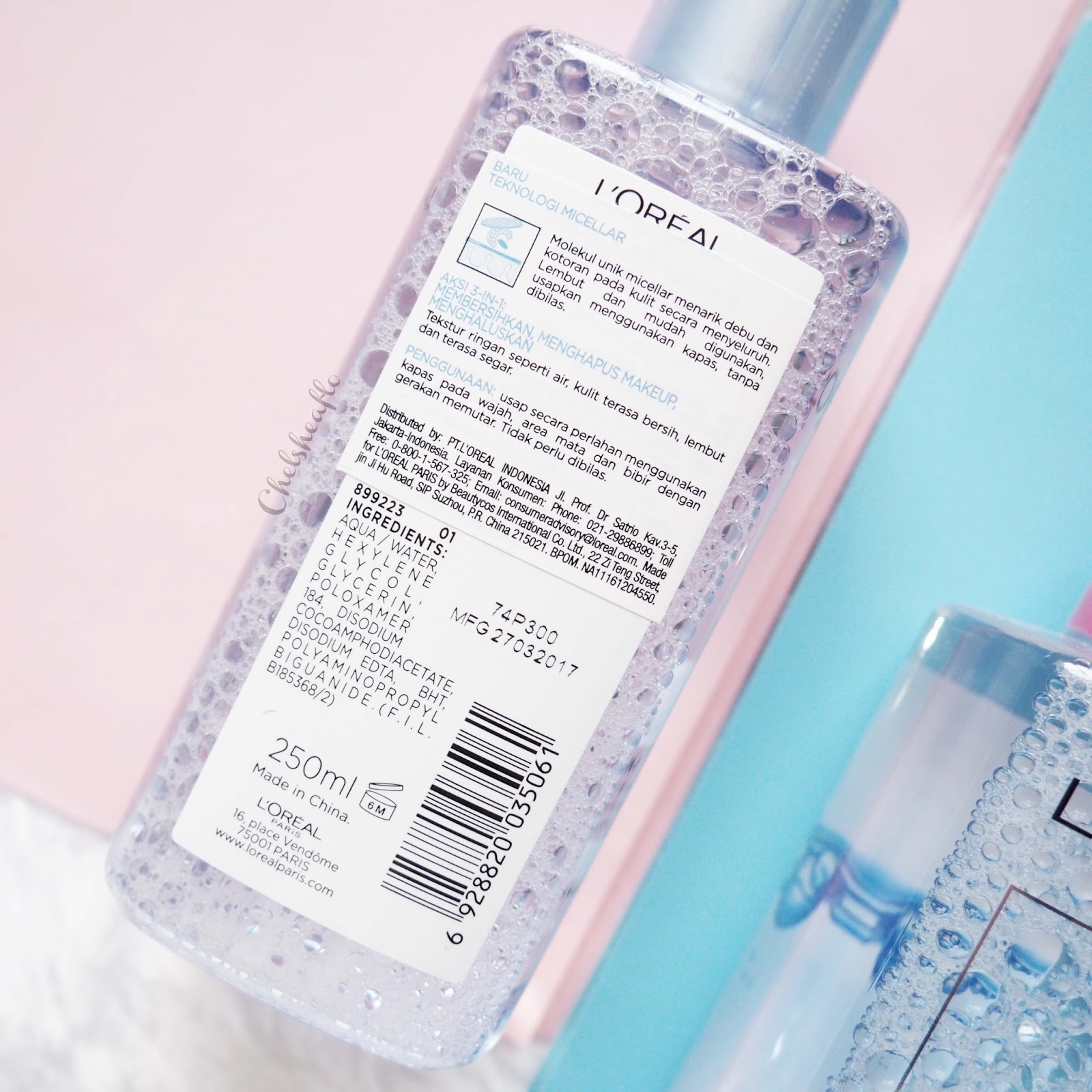 Review Loreal Micellar Water Cosmetics Beautynesia Blog L Oreal Makeup 250ml Blue Fresh Mountain To Refresh Skin For Normal Oily