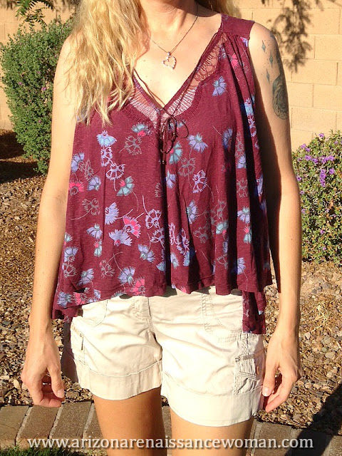 Free People Love Potion Floral Print Sleeveless Knit Top - Trunk Club Review - April 2016