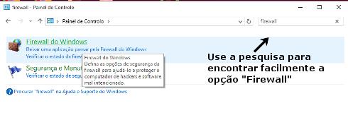Como abrir portas na Firewall do Windows