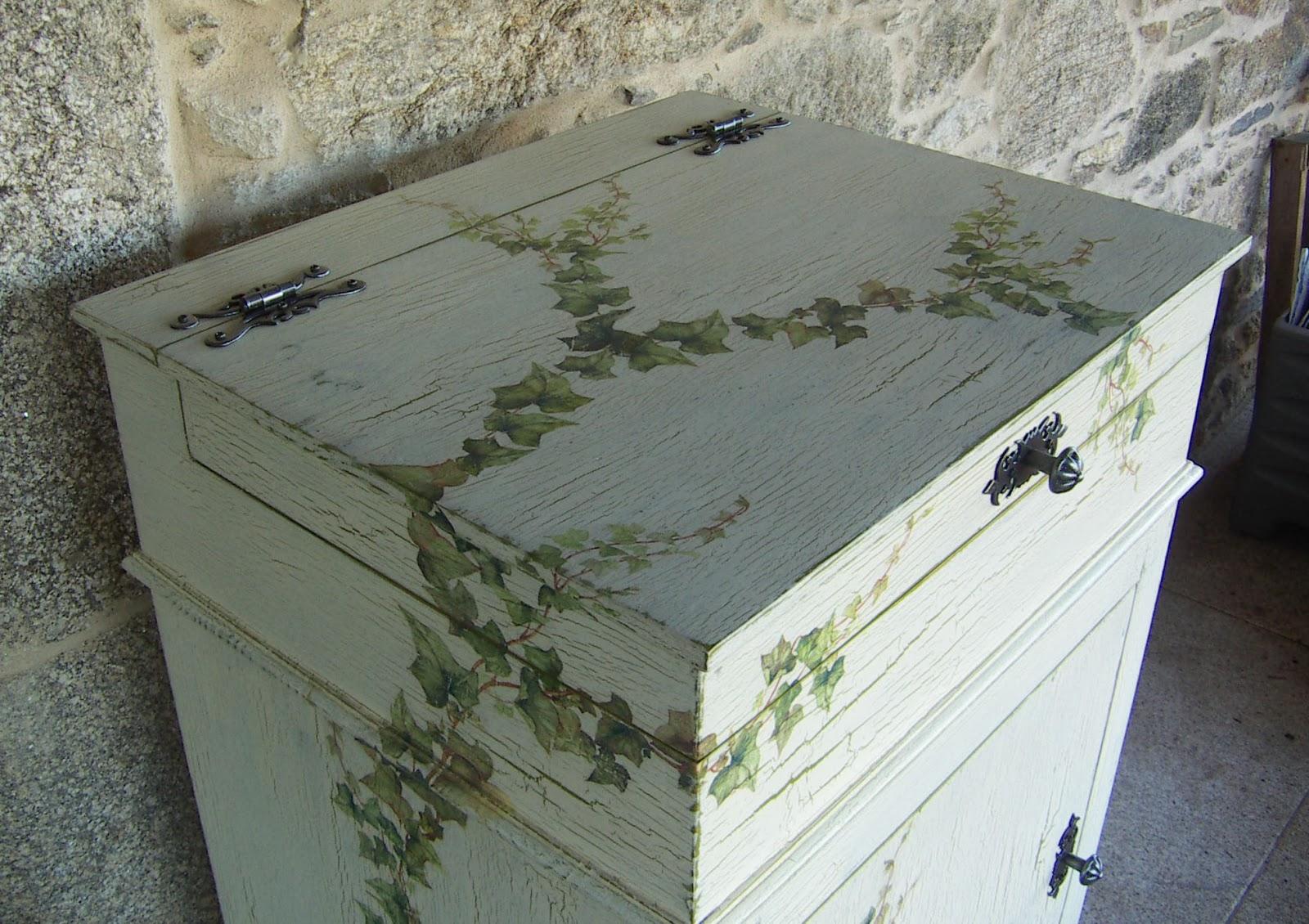 El rinc n de un aprendiz hacer un mueble con un acabado for Decoupage con servilletas en muebles