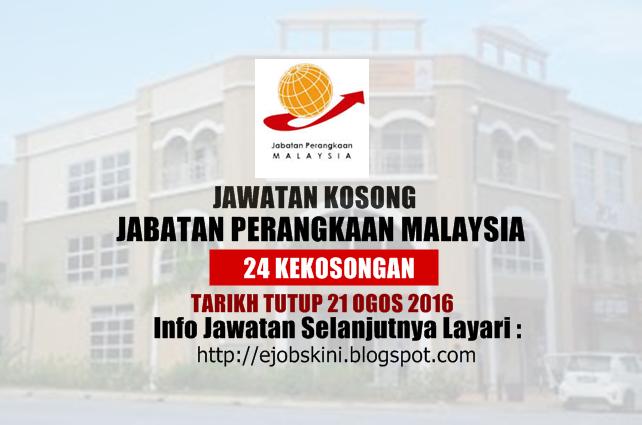 Jawatan Kosong Jabatan Perangkaan Malaysia Ogos 2016