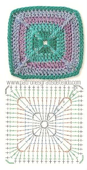 cuadro de abuelita crochet