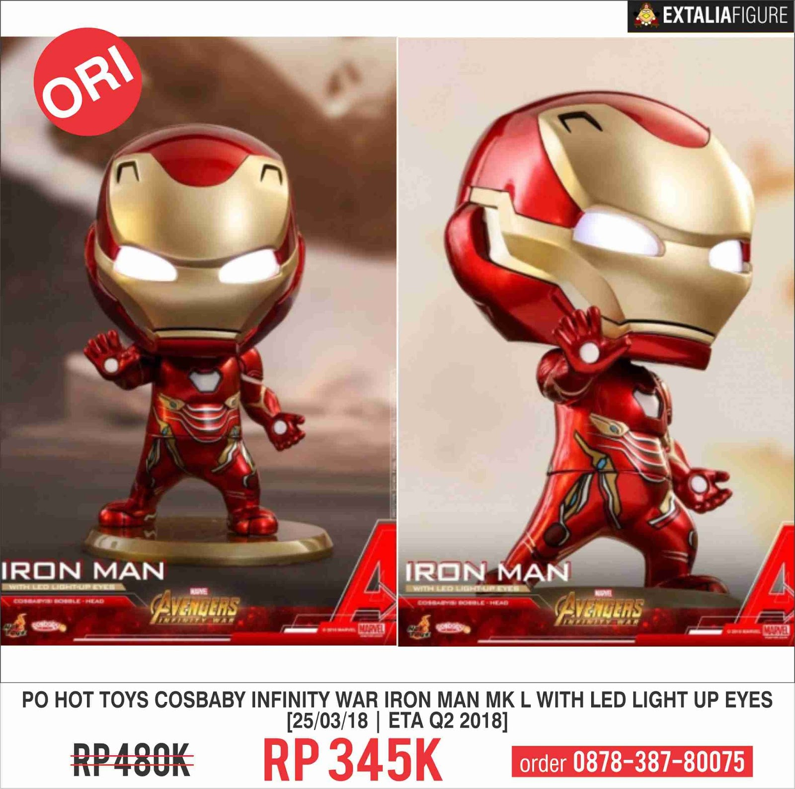 PRE-ORDER] HOT TOYS COSBABY AVENGERS: INFINITY WAR IRON MAN
