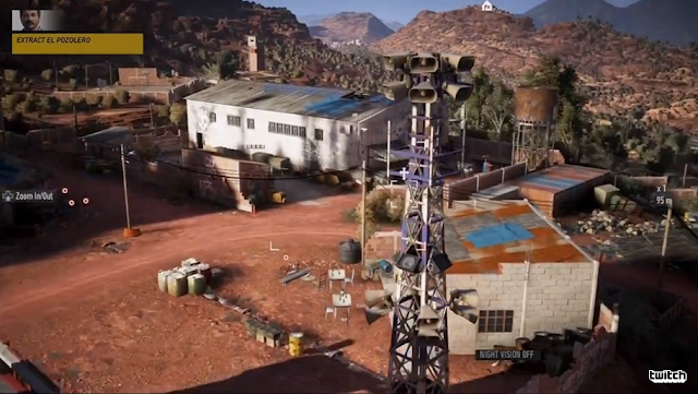 Tom Clancy's Ghost Recon drove view perspective gameplay El Pozolero
