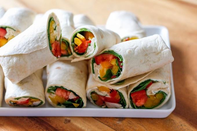 Wrap de vegetales y pollo