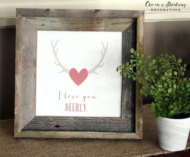 farmhouse valentine's day decor, chic on a shoestring decorating