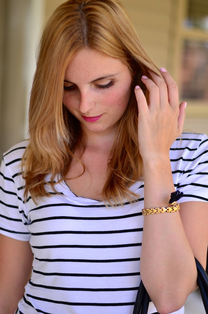 How to Style a Striped T