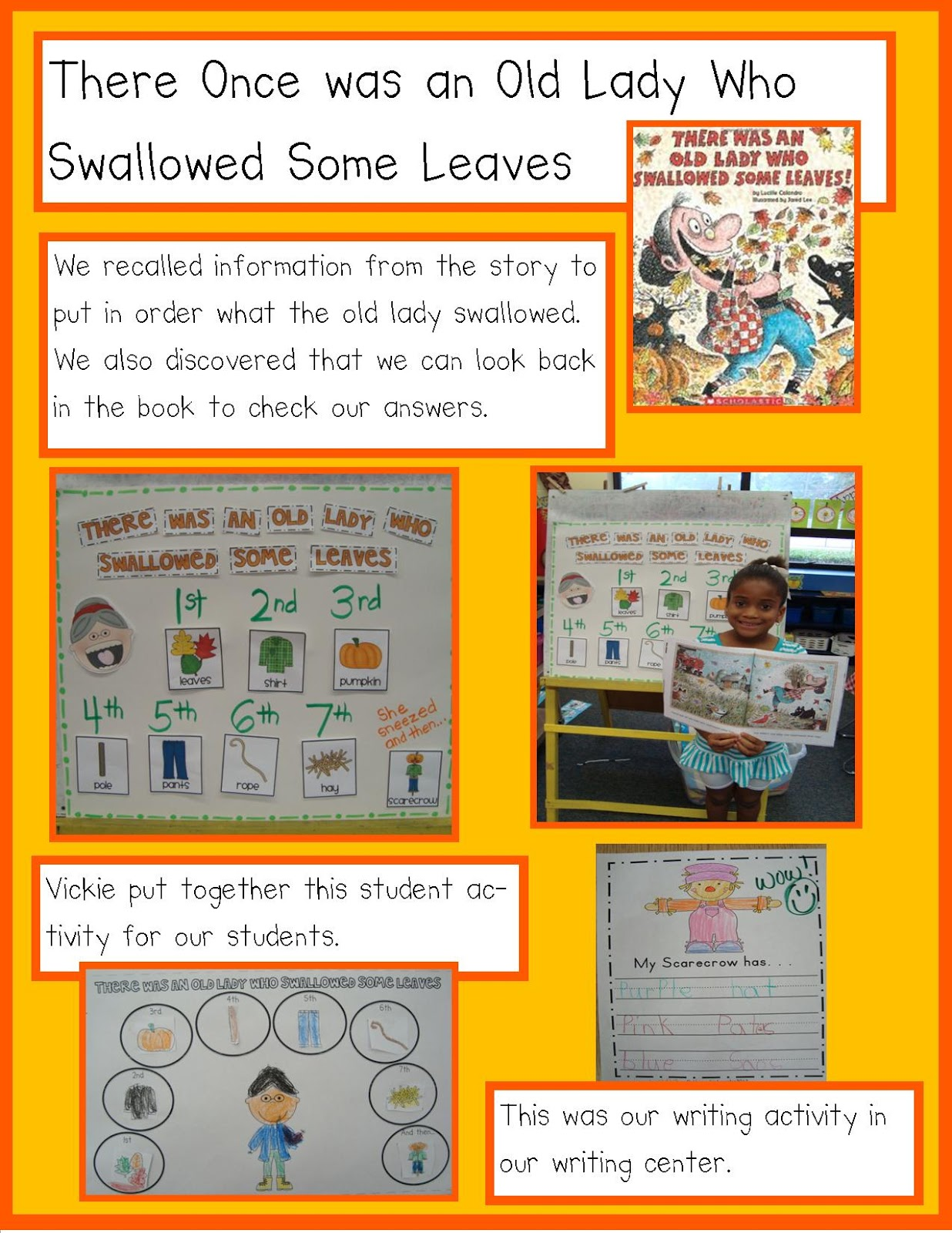 Golden Gang Kindergarten Scarecrows Galore With Freebies