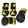 Hiado Waterproof Dog Shoe Pet Boots with Anti Slip Rubber Soles for All Weather ( Yellow, Size 5 , 1.65x1.45 Inch )