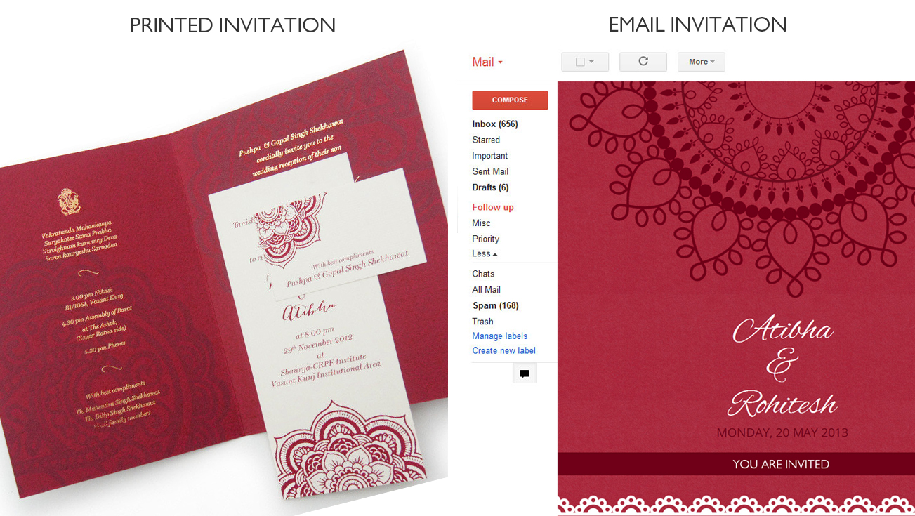 Fancy Free Email Wedding Invitation Cards Motif Invitations And