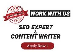LAST DATE TO APPLY | SEO EXPERT & CONTENT WRITER |