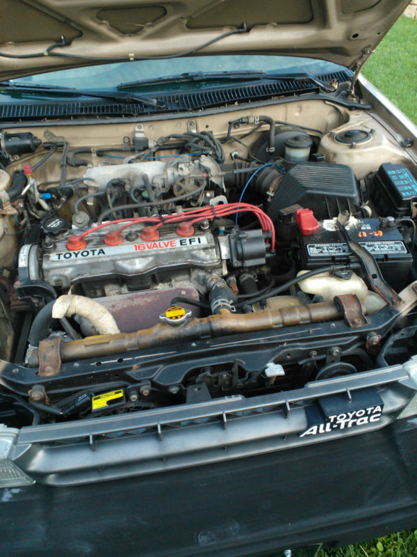 The Corolla All Trac Was Only Available In Sr5 Trim With A 1 6 Liter 4a Fe Inline 4 Banger Putting Out 105 Horse And 101 Ft Lbs Of Torque Not Lot