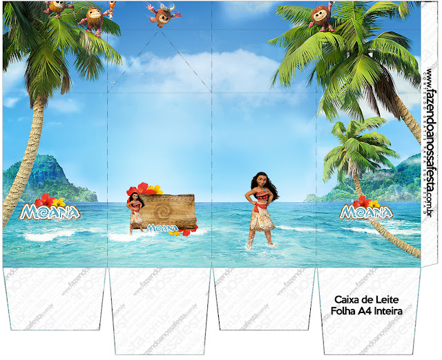 Moana Free Printable Milk Box.