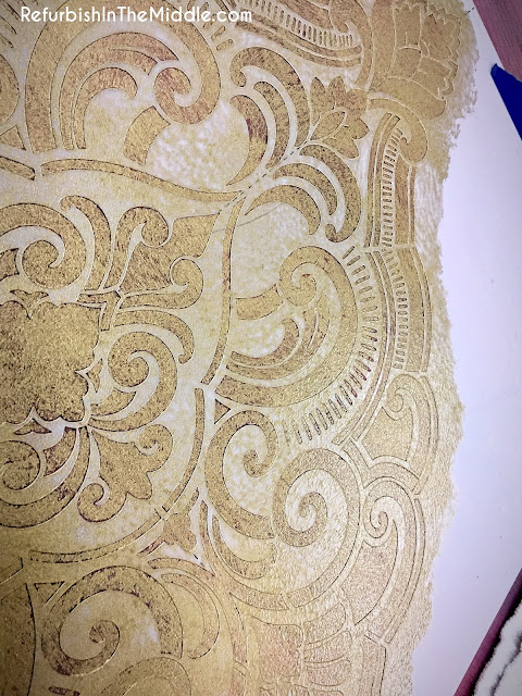 medallion stencil application of golden ticket paint