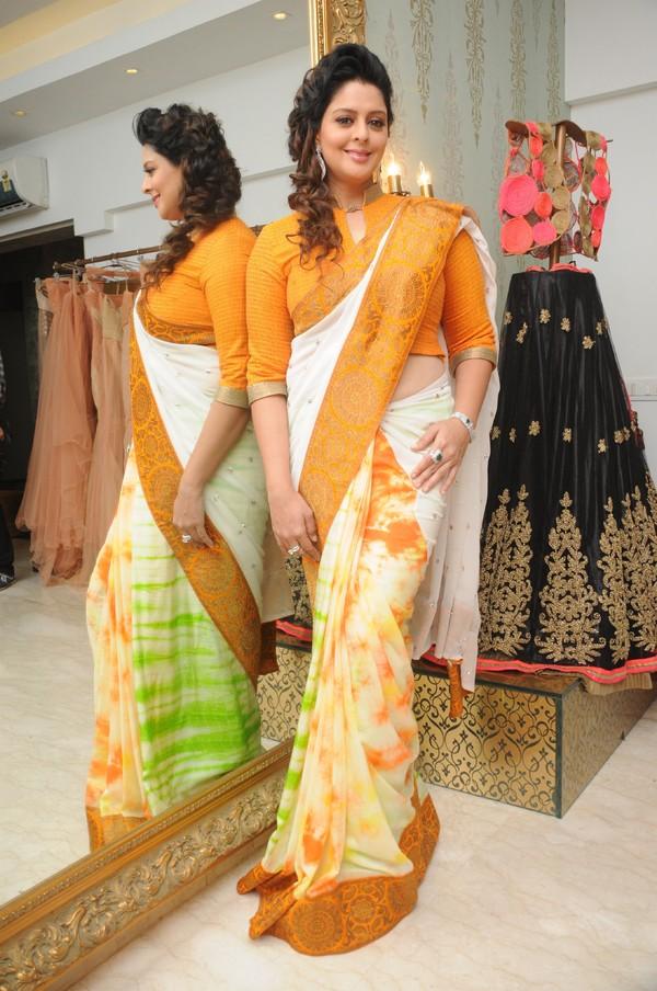Hindi Actress Nagma Latest Photos In Yellow Saree