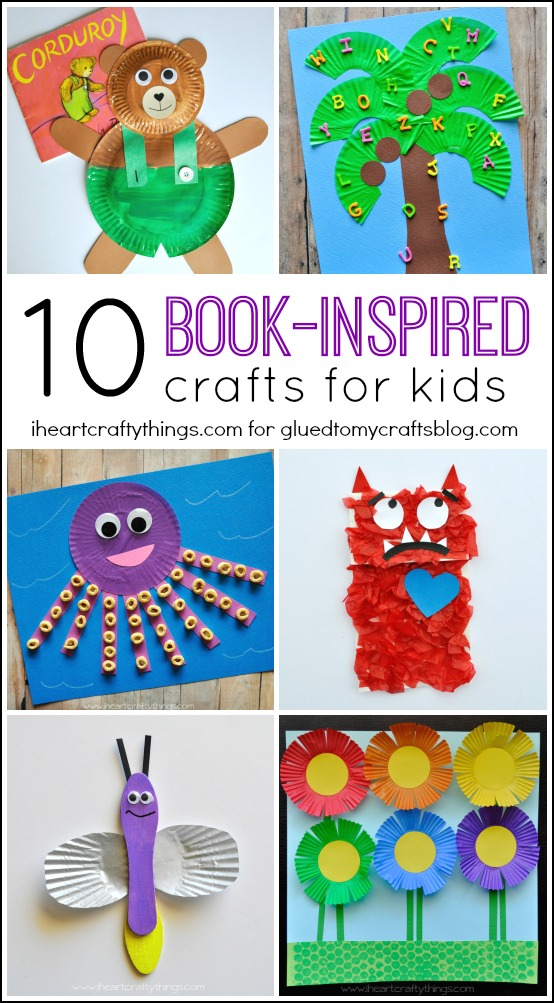 Book inspired kid crafts roundup i heart crafty things for Art and craft books for kids