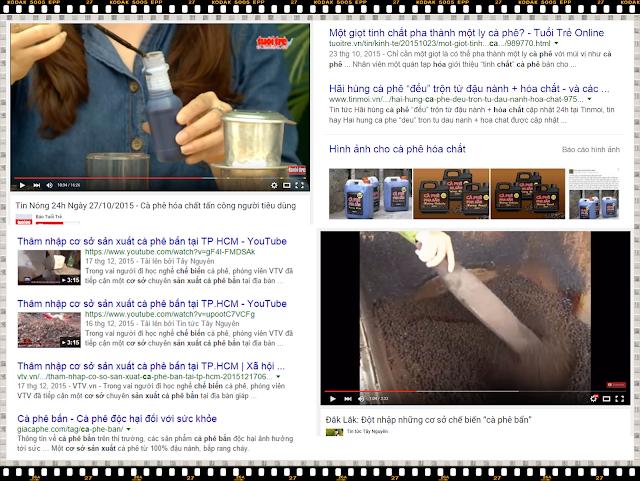 Cà phê bẩn, trộn tạp chất - cà phê hoá chất trên các phương tiện thông tin đại chúng