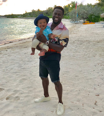Photos: #KevinHart,wife and kids enjoy vacation in Bahamas