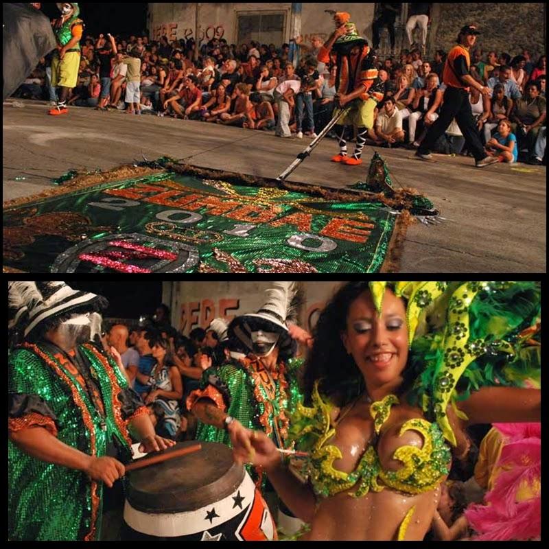 Carnaval. Desfile de Llamadas. Montevideo.Zumbaé. 2010.