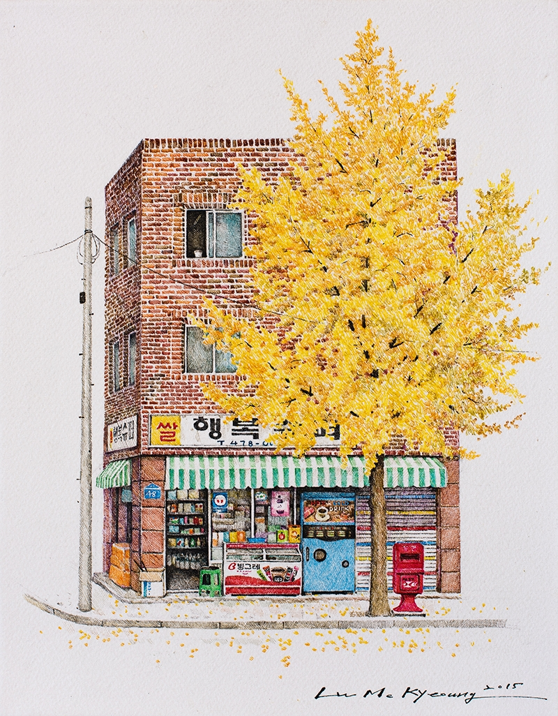 02-Happy-Me-Kyeoung-Leehas-Pencil-Drawings-of-Convenience-Stores-in-South-Korea-www-designstack-co