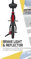 Rear Brake Light & Reflector on SwagCycle E-Bike