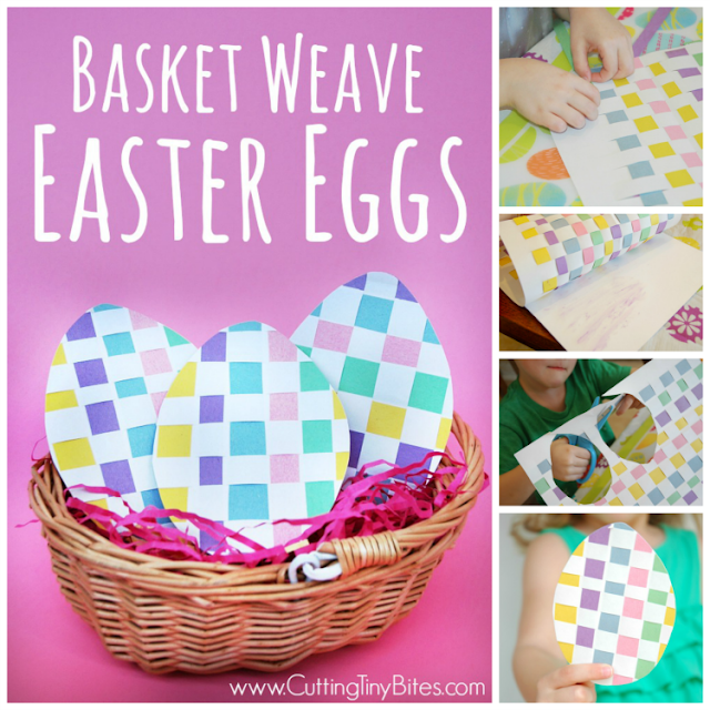 Basket Weave Easter Eggs Paper Craft For Kids