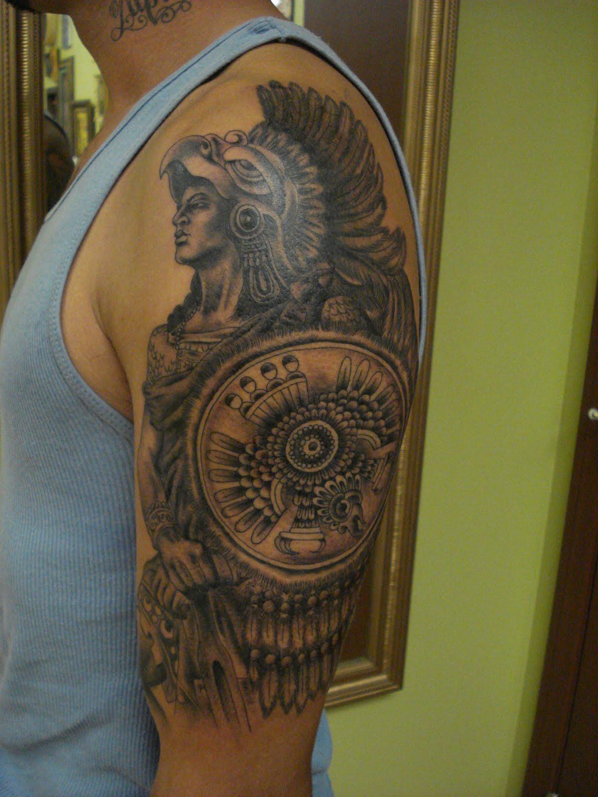 36d1be614 My Tattoo Designs: Aztec Warrior Tattoo - aztec tattoos
