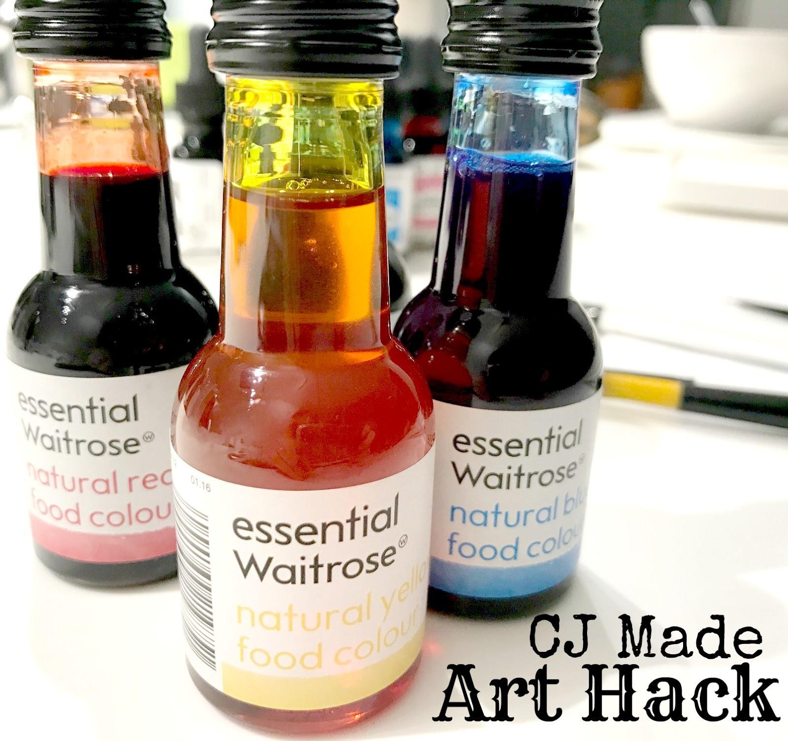 CJ made: Art Hack: Inks versus Food Colouring