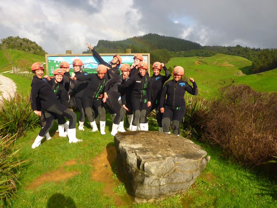 Waitomo caving New Zealand