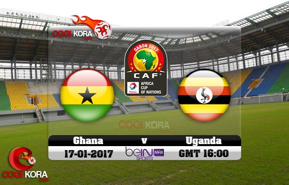مشاهدة مباراة غانا وأوغندا اليوم كأس أمم أفريقيا 17-1-2017 علي بي أن ماكس