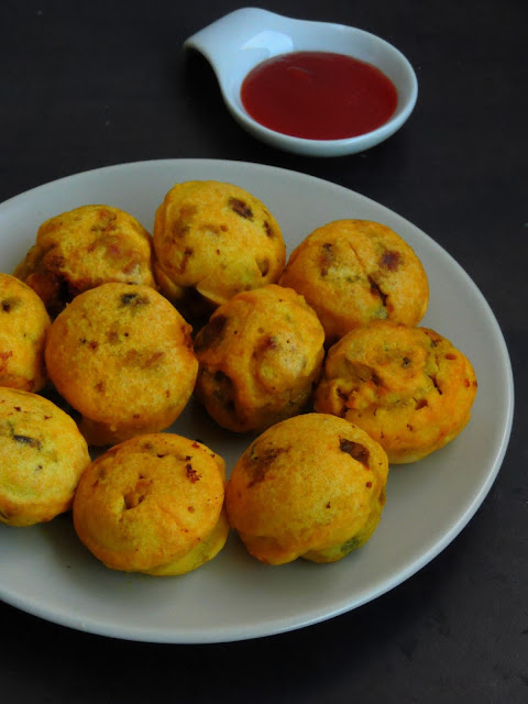 No fry Aloo Dhingri Batata vada, Mushroom Potato Vada