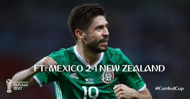 México sofre para vencer a Nova Zelândia