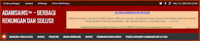 Gambar Menu Bar Blog Adamsains