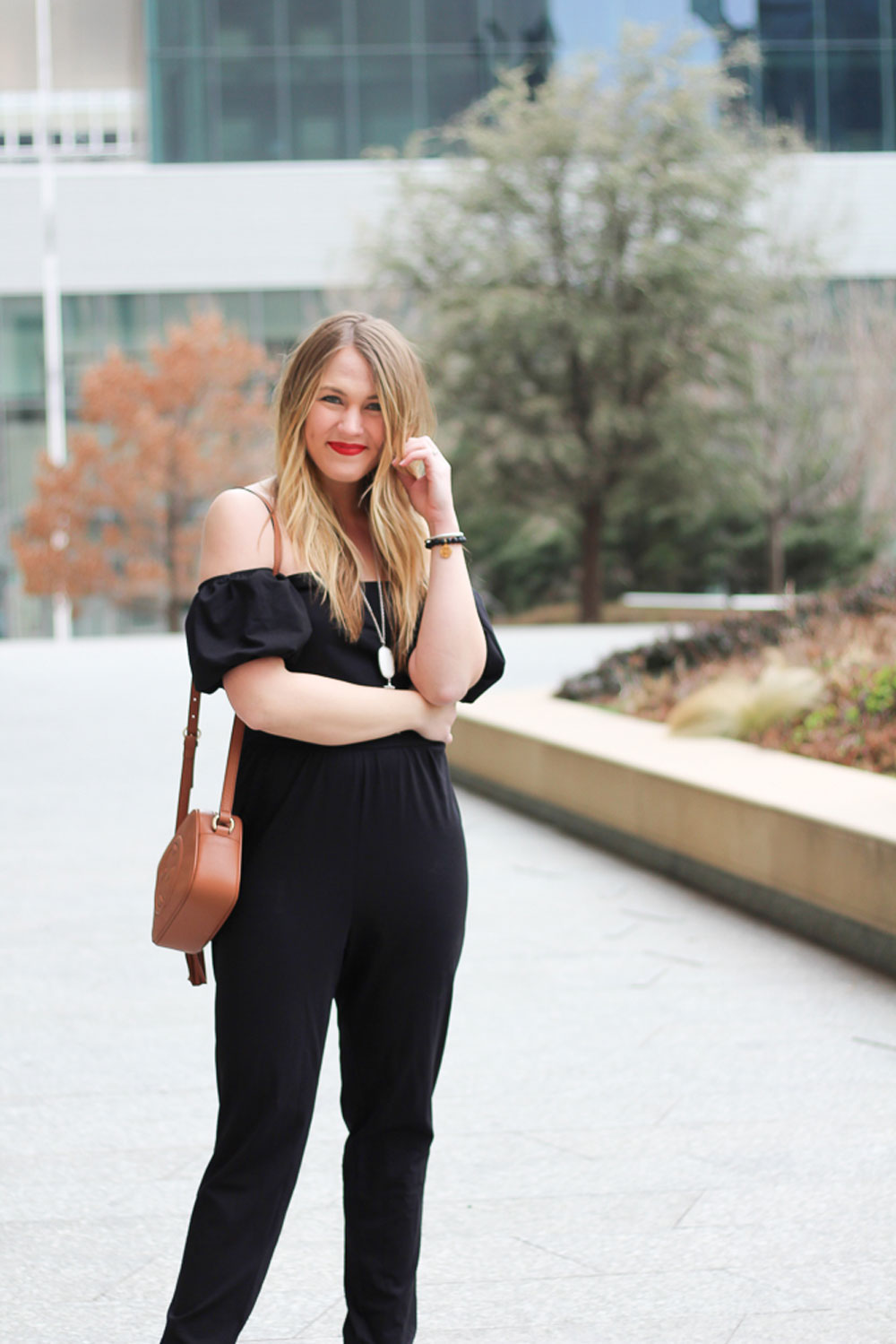 black jumpsuit outfit