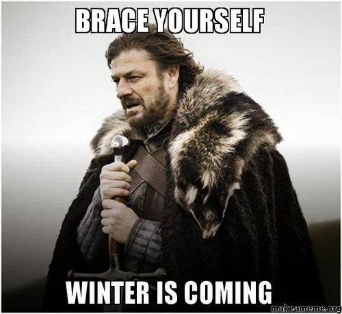 "Game of Thrones character Ned Stark, with caption ""Brace Yourself Winter Is Coming"""