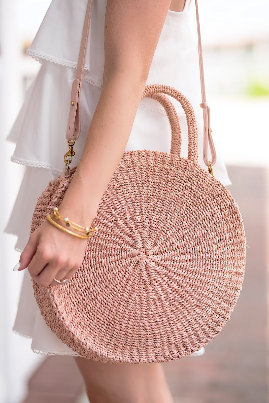 Clare V. Alice Bag in Blush- Something Delightful Blog