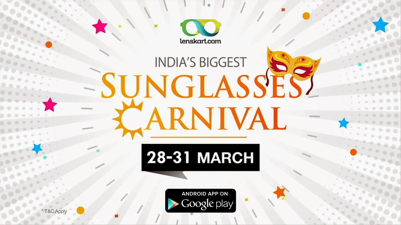 5e48ee3a098 The good news is that Lenskart is organizing India s biggest sunglasses  carnival ...