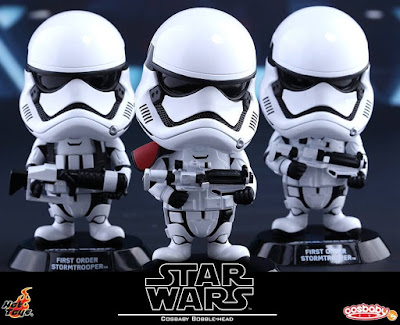 Star Wars: The Force Awakens Cosbaby Series 1 Vinyl Figure Bobble Heads by Hot Toys - First Order Stormtroopers