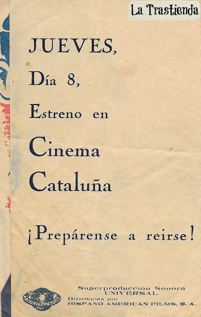 Programa de Cine - Una Vez en la Vida (1932) - Jack Oakie - Sidney Fox