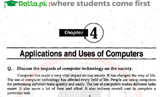 1st Year Computer chapter 4 Long questions pdf - ICS Part 1