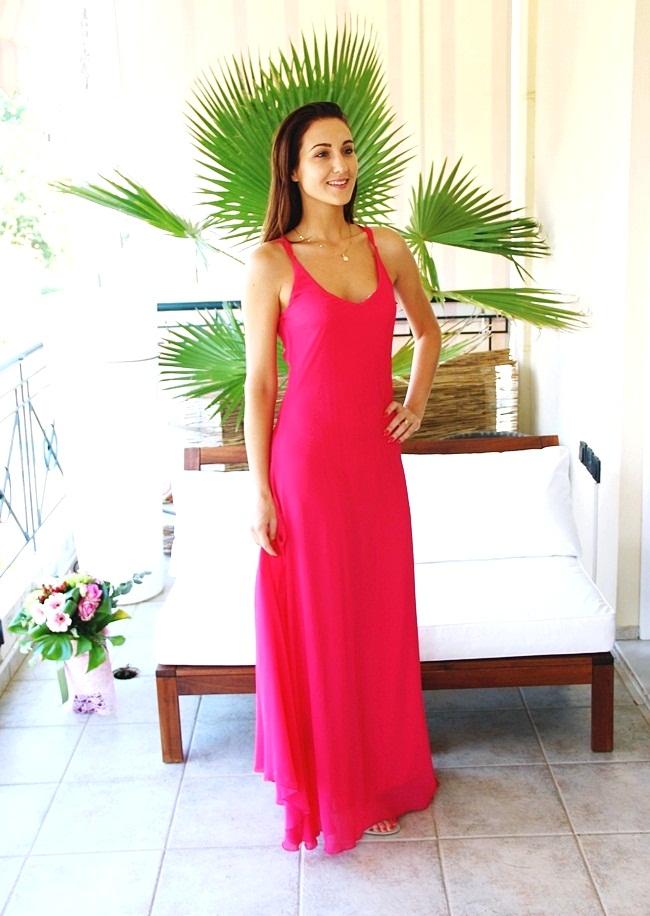 Lynne φορέματα Fuchsia pink Lynne maxi dress