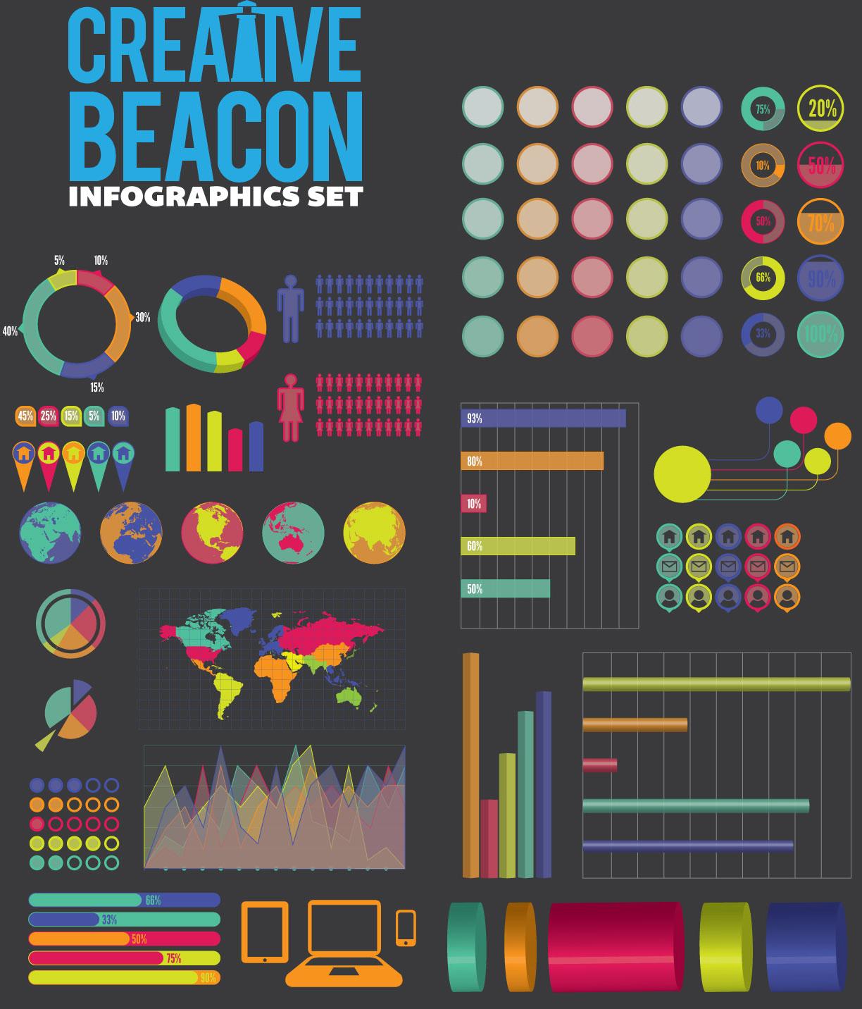 Vectores para hacer infografia | Jhon Urbano