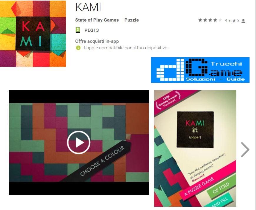 Soluzioni KAMI 2 il viaggio Pagina 18 livello 103 104 105 106 107 108 | Trucchi e Walkthrough level