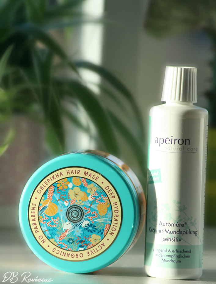 Apeiron Auromere Natural Herbal Mouth Rinse and Natura Siberica Professional Oblepikha Mask