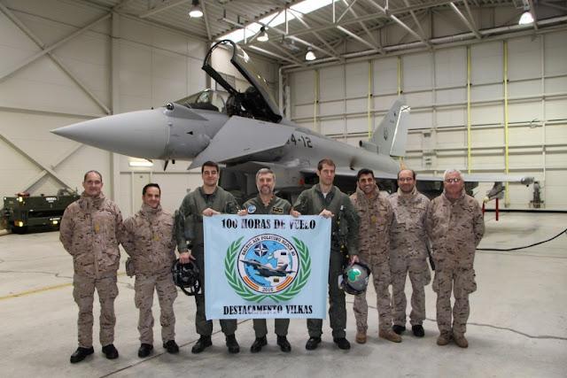 Los Eurofighter del destacamento VILKAS superan las 100 horas de vuelo