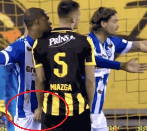 Chelsea footballer punished for grabbing his opponent's eggplant during a match (Photos/Video)