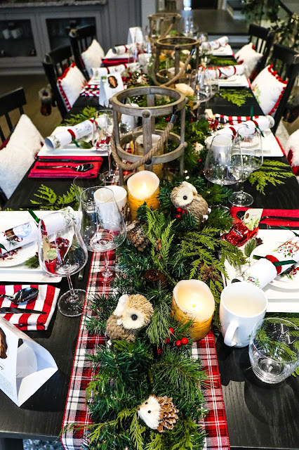 Christmas Decor Red Green Plaid Table Setting Inspiration