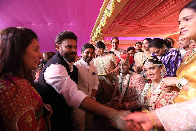 victory venkatesh at subbarami reddy grandson wedding
